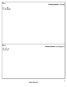 Circuit Training - Improper Integrals (calculus)