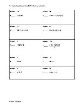 Circuit Training - Integers Basic Operations