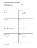 Circuit Training - Integers Exponents & Order of Operations