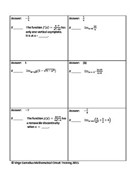 Circuit Training - Limits and Continuity (Calculus)