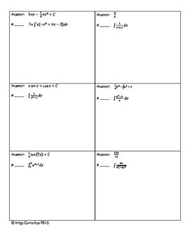 Circuit Training - Mixed Integration Practice (calculus)