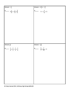 Circuit Training - Mixed Operations with Fractions
