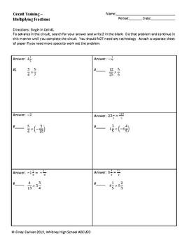 Circuit Training - Multiplying Fractions