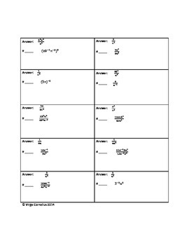 Circuit Training - Negative Exponents