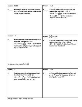 Circuit Training - Particle Motion (calculus)