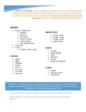 Circuit Training Resource Sheet for Students
