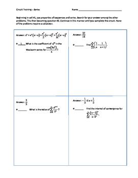 Circuit Training -- Series  (calculus)