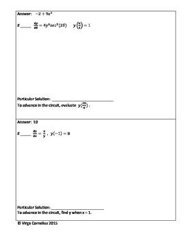 Circuit Training - Solving Differential Equations (Calculus)