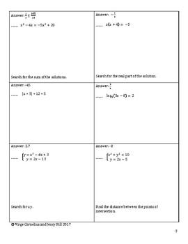 Circuit Training - Solving Equations (Algebra II  /  Precalculus level)