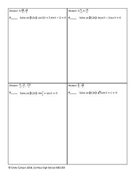 Circuit Training - Solving Trigonometric Equations