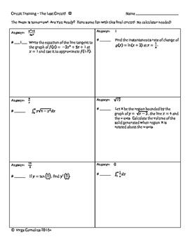 Circuit Training - The Last Circuit! (calculus)