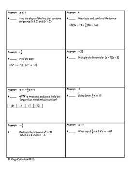 Circuit Training - Ultimate (Pre)Algebra Review!