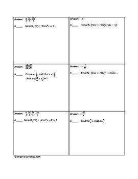 Circuit Training - Using Identities (Trigonometry)