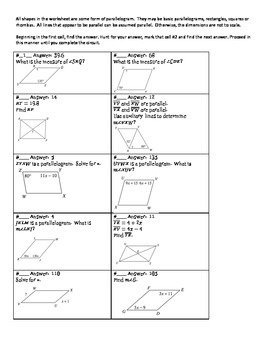 Circuit Training - Working with Quadrilaterals (geometry)