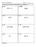 Circuit Training for Simplifying Rational Expressions; Algebra 2 and above
