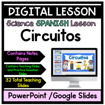 Circuitos -Circuits Power Point Lesson with Notes