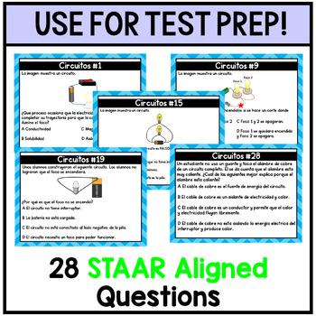 Circuitos Circuits Task Cards (5th Grade)