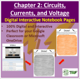 Circuits, Current, and Voltage - Digital Interactive Notebook Pages