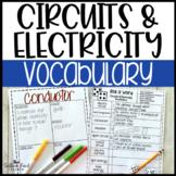Circuits & Electricity Fun Interactive Vocabulary Dice Activity EDITABLE