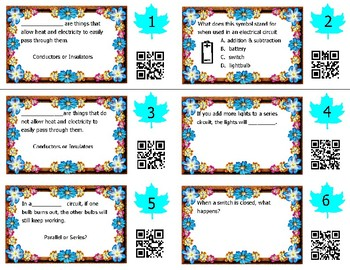 Circuits & Electricity Task Cards -- Science