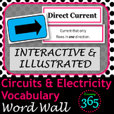 Circuits & Electricity Vocabulary Interactive Word Wall