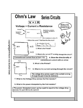 Series Circuit Worksheets Teaching Resources Tpt