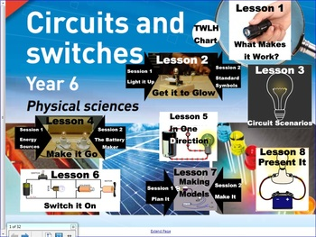 Circuits & Switches. (Primary Connections Science unit) WHOLE TERM DONE FOR YOU!