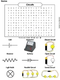 Electricity and Circuits Worksheet/ Word Search