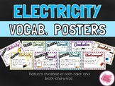 Circuits and Electricity Vocabulary Posters