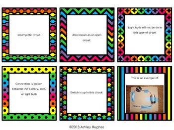 Circuits/Electrical Charged Material/Magnet Review Task Cards