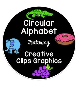 Circular Alphabet featuring Creative Clips Graphics - 8x8 in
