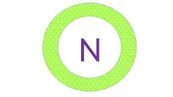 circular banner for numbers corner purple and green by haya bacharouch