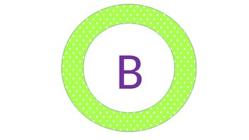 Circular Banner for Numbers Corner (Purple and green)