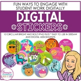 Circular Digital Stickers - Bright and Bold!