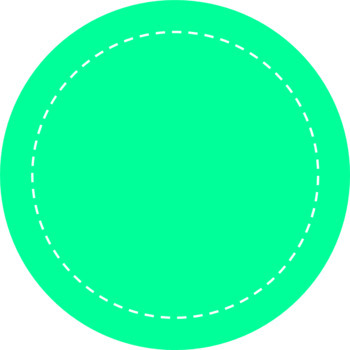 Colorful Circular Round Frames & Labels