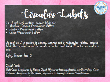Circular Labels (Watercolour Theme)