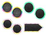 Circular Labels (Watercolour Theme)