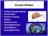 Circular Motion - Includes Centripetal Acceleration - A Physics Lesson & Note