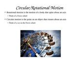 Circular Motion Powerpoint