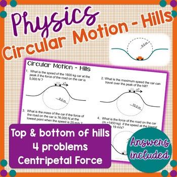 Circular Motion Problems - Hills  - Physics