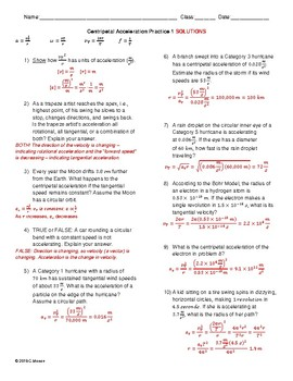 Circular Motion Worksheet Pack 1 (No Forces)