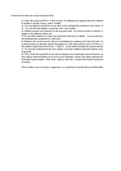 Physics - Circular Motion Worksheet - Interactive .xls Worksheet