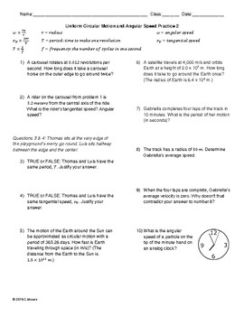 Circular Motion Worksheets & Teaching Resources | TpT