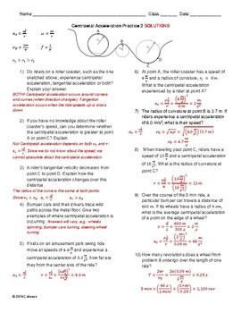 Circular Motion Worksheet Pack 2 - Supplemental (No Forces)