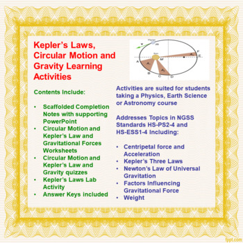 Circular Motion and Kepler's Laws Learning Package