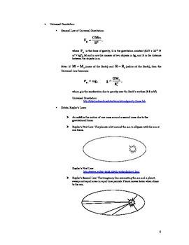 Circular Motion and Universal Gravitation Toolbox