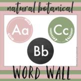 Circular Natural Botanical Word Wall Letters | Classroom Decor