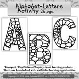 Circular Pattern Alphabet Activity Playdough Coloring Loose Parts Emergent
