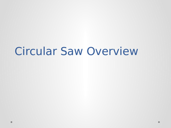 Circular Saw Safety