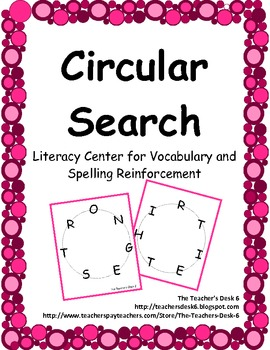 Circular Search: Literacy Center for Vocabulary and Spelli